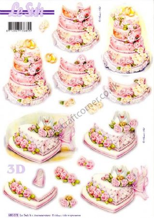 Wedding Cakes Die Cut 3d Decoupage Sheet From Le Suh